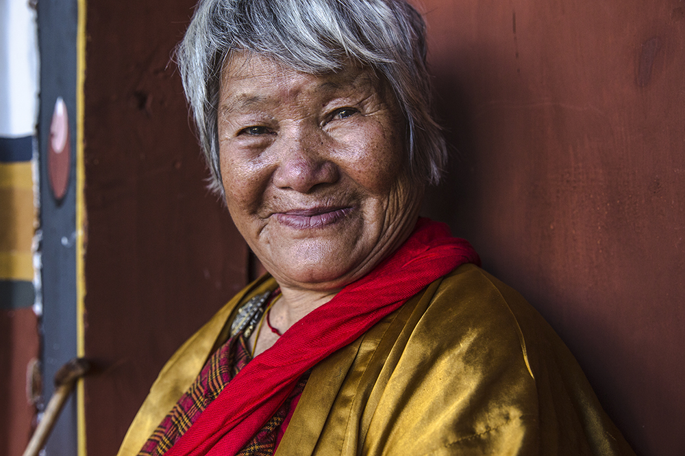 """""""People take lots of photographs of me,"""" this Bhutanese woman told Dragan. """"Maybe one day my grandchildren will travel and find these photos of me. It makes me happy to think that."""""""