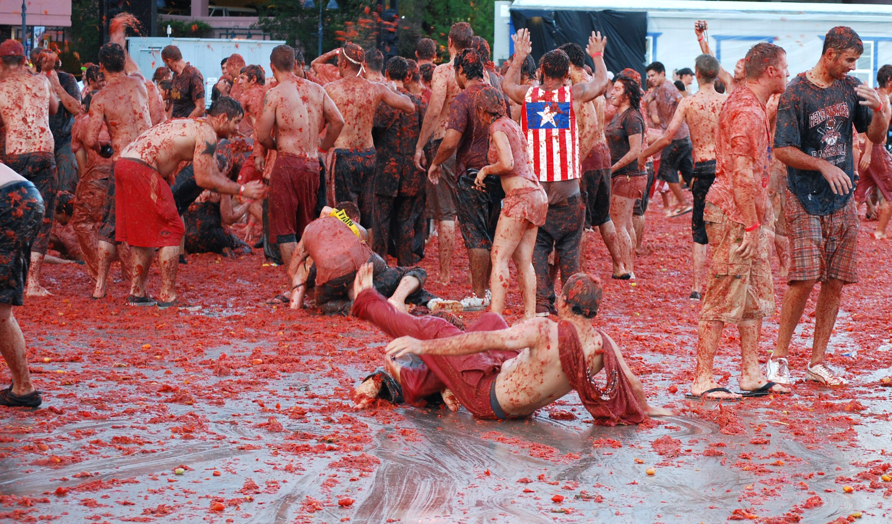 Travellers from around the world make the trek to the annual La Tomatina festival. Photo courtesy Reno T.