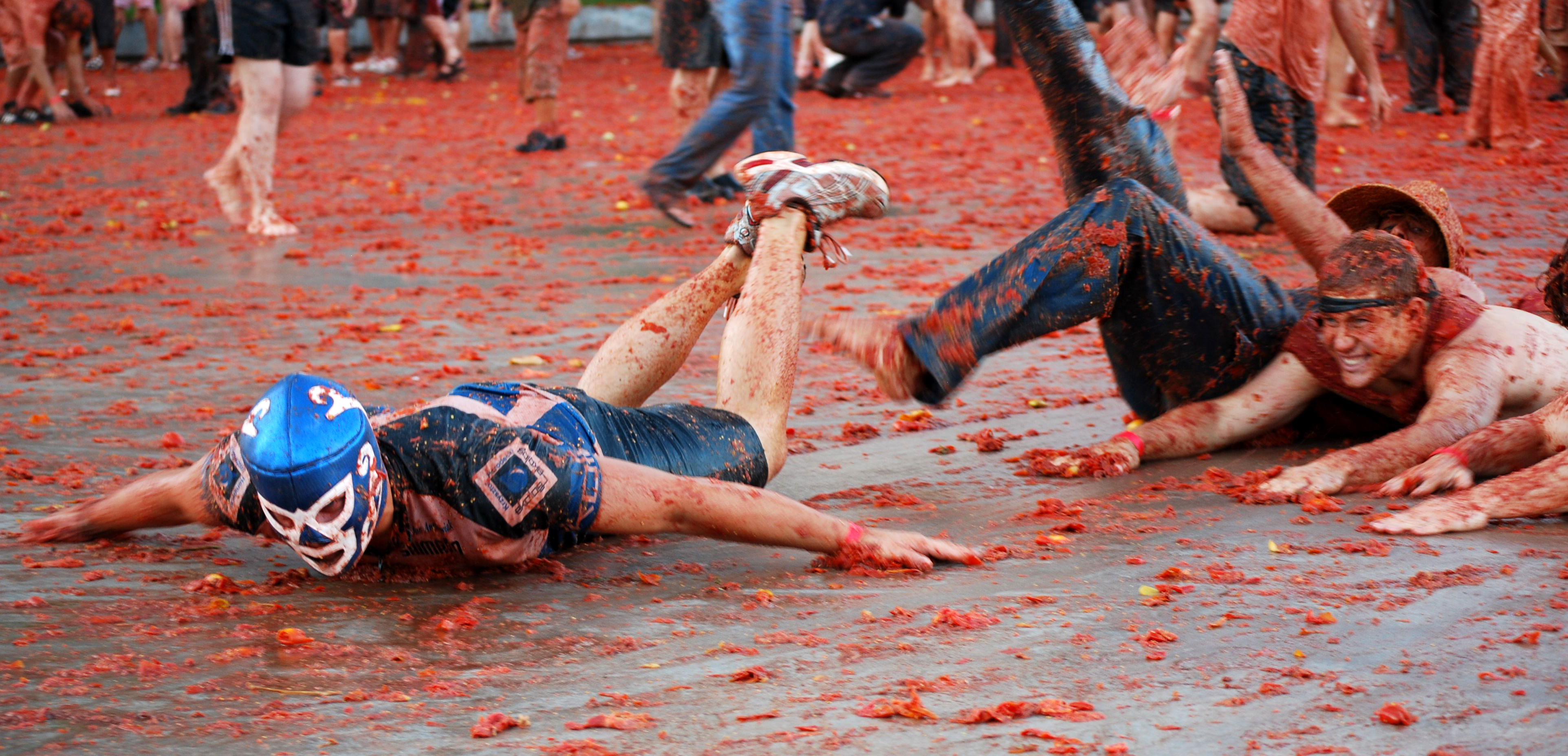 La Tomatina is an annual event in the Spanish town of Buñol. Photo courtesy Reno T.