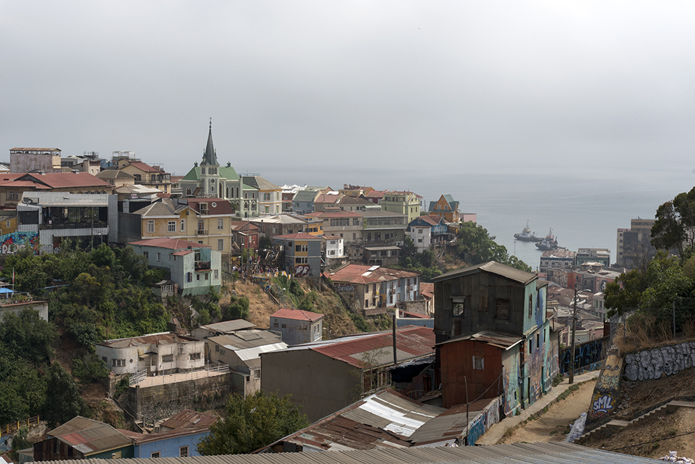 Valparaiso is characterized by its colourful, hillside houses.