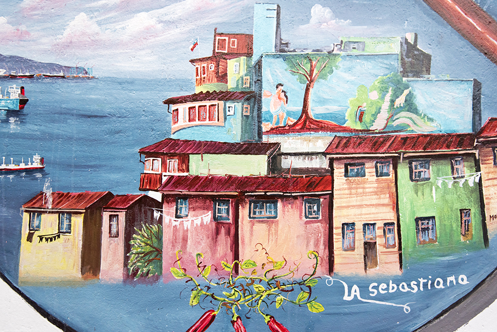 A painting of La Sebastiana.