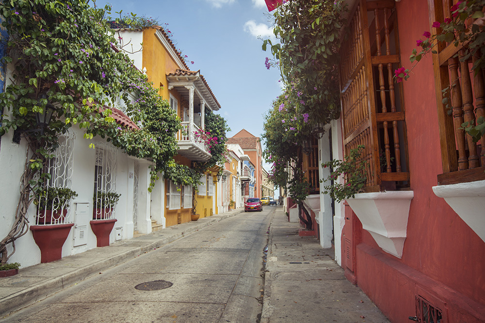 The colourful streets of Cartagena.