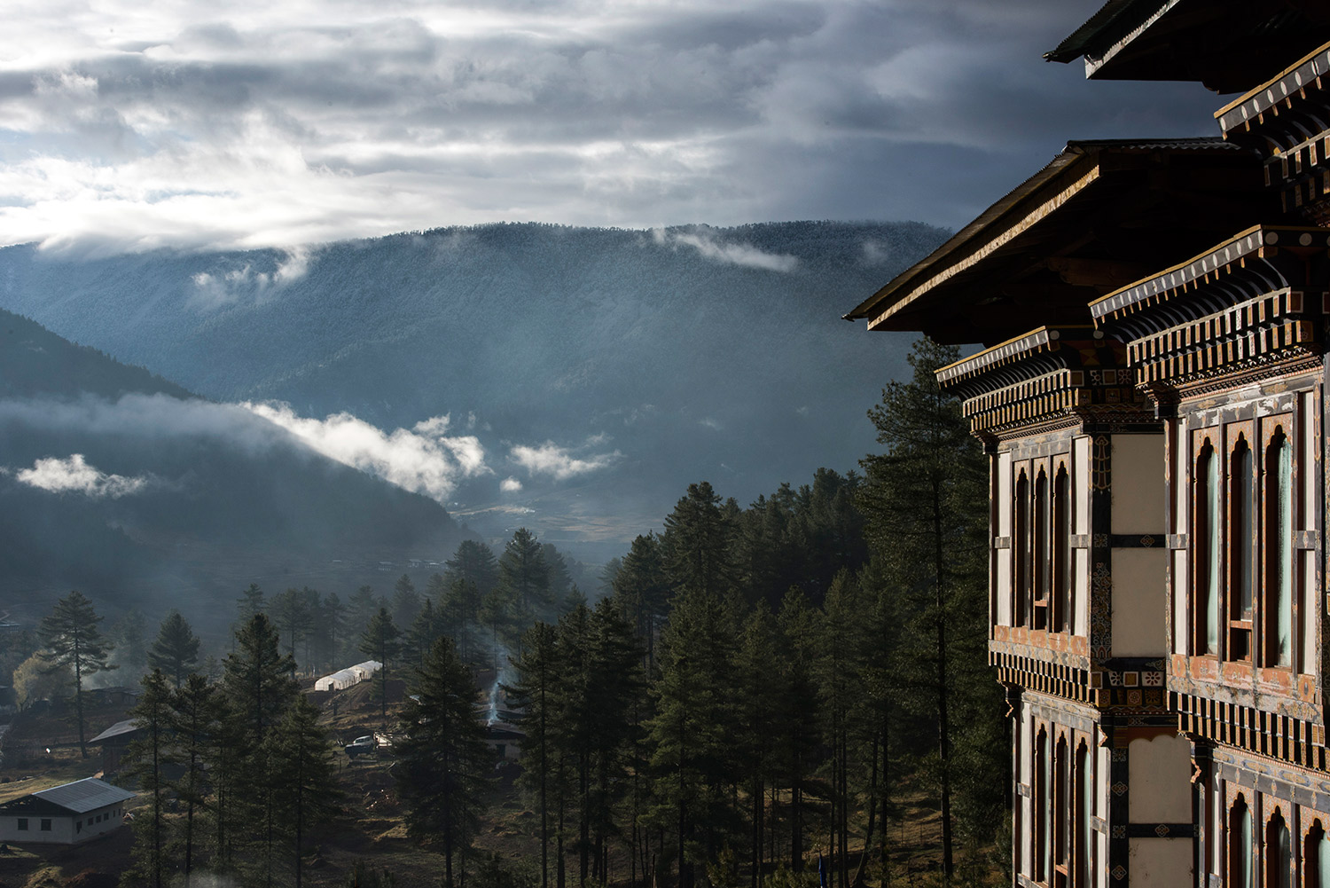The Phobjikha Valley in central Bhutan.