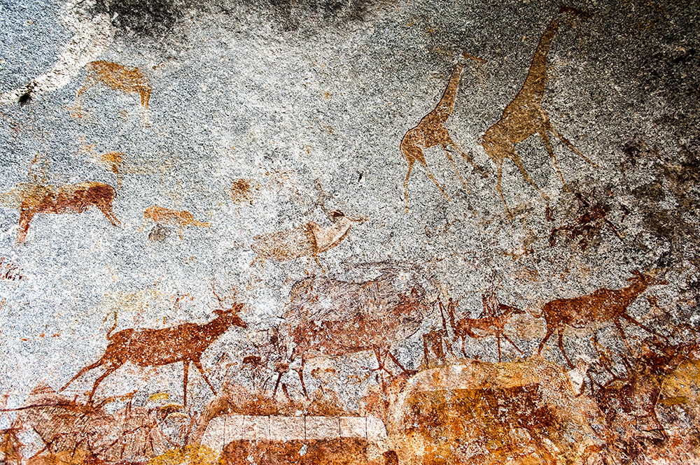 The striking rock art of Zimbabwe.