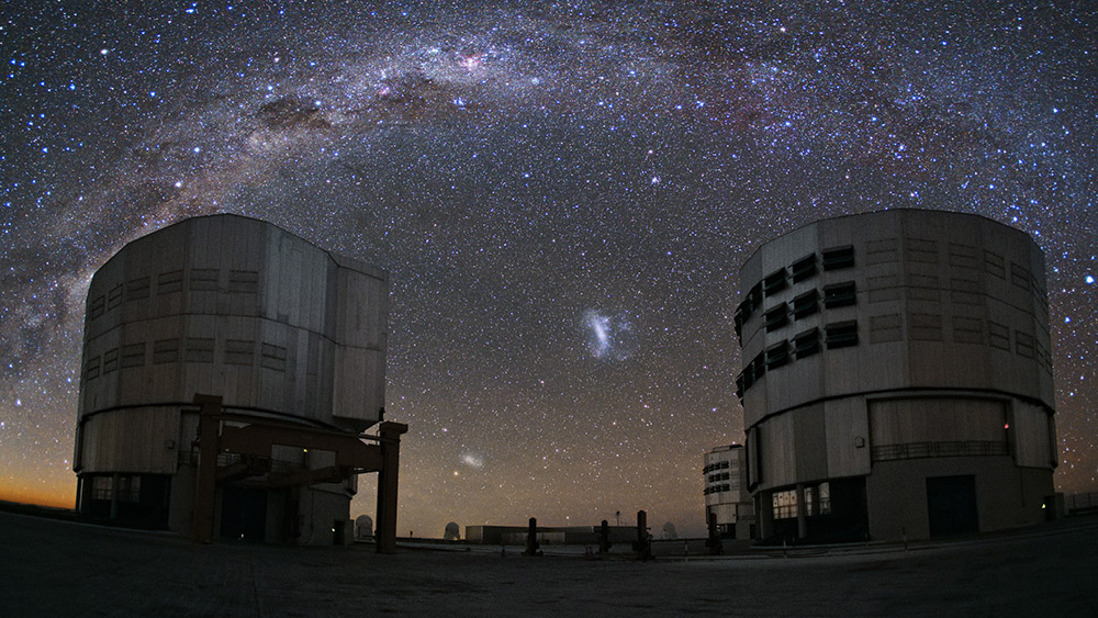 The world's most advanced visible-light astronomical observatory. Photo courtesy European Southern Observatory.