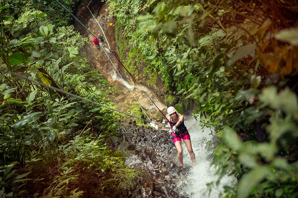 Picture yourself here, abseiling down this waterfall.