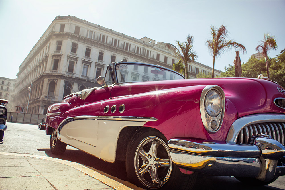 Vintage cars are an emblem in Havana.