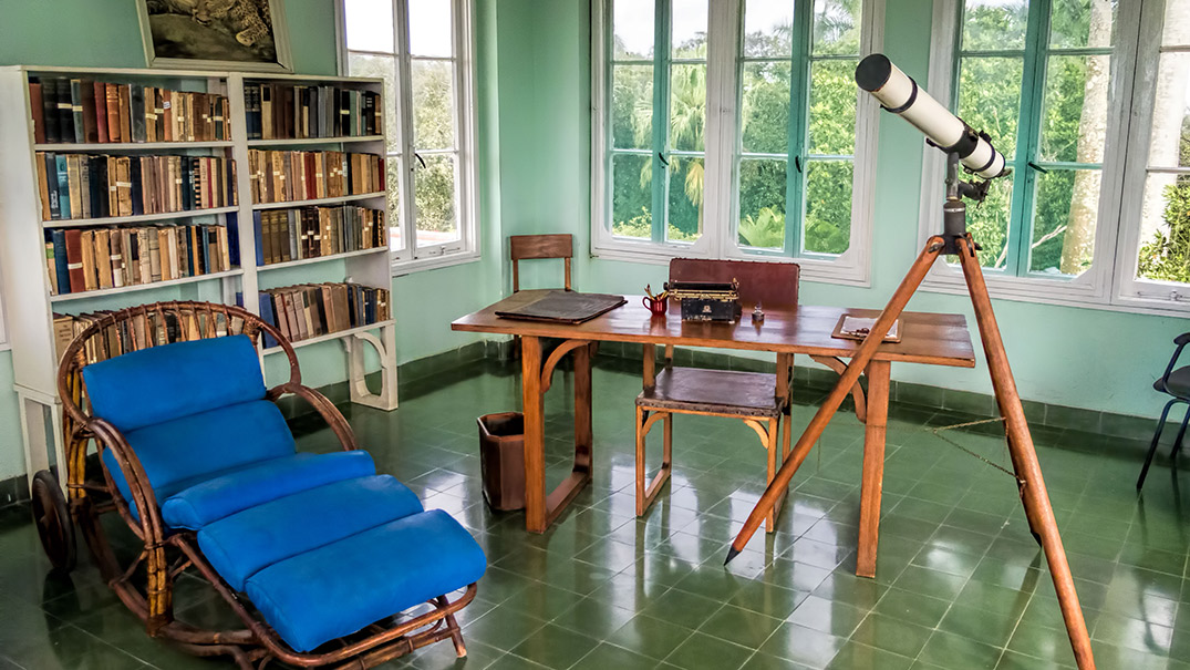 Inside Finca Vigia, Hemingway's home for many years. Photo courtesy Dan L.