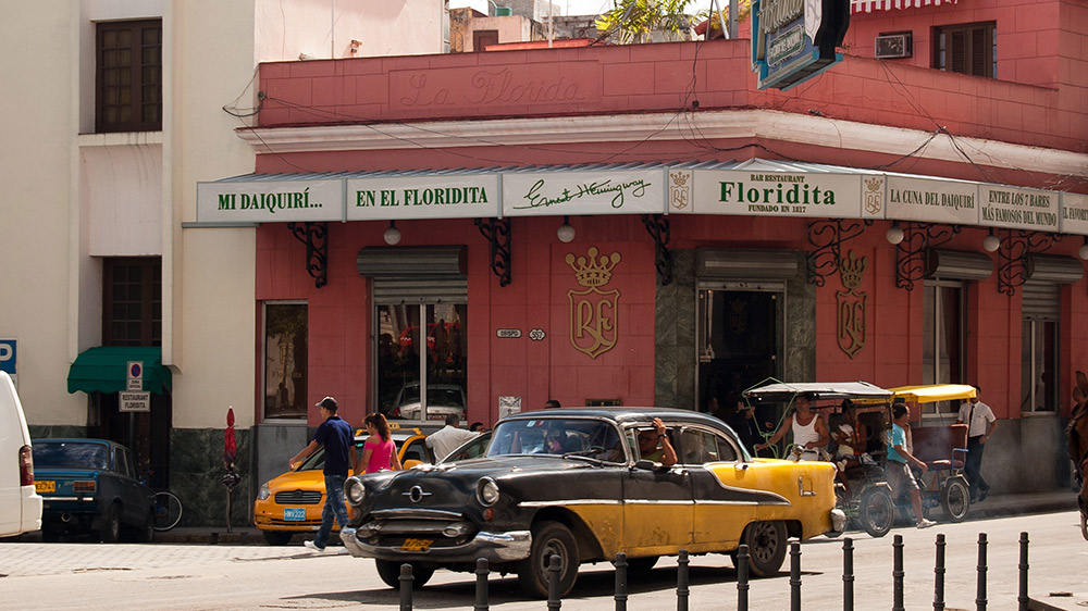 Floridita still retains the spirit it had during Hemingway's era. Photo courtesy O Taillon.
