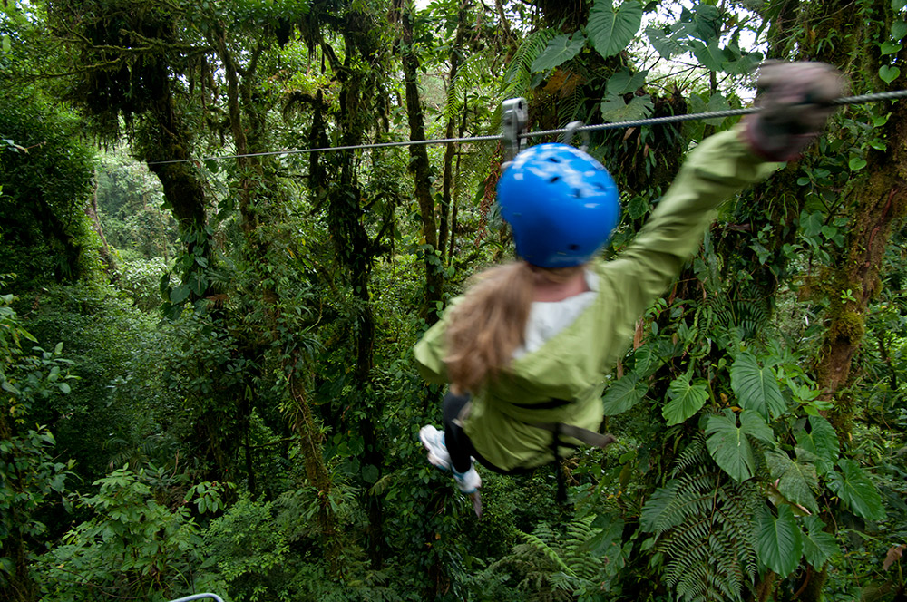 Get your heart racing on a zip-line tour.