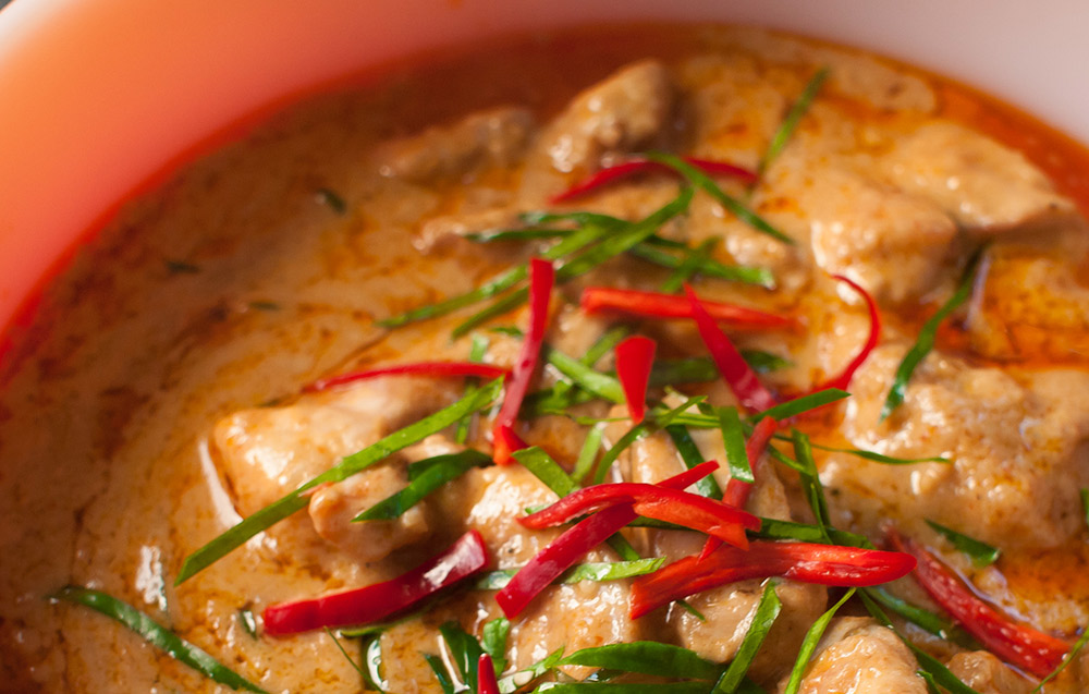 Try your hand at making red curried chicken. Photo courtesy Wiki.