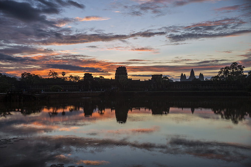The temples of Angkor Wat.