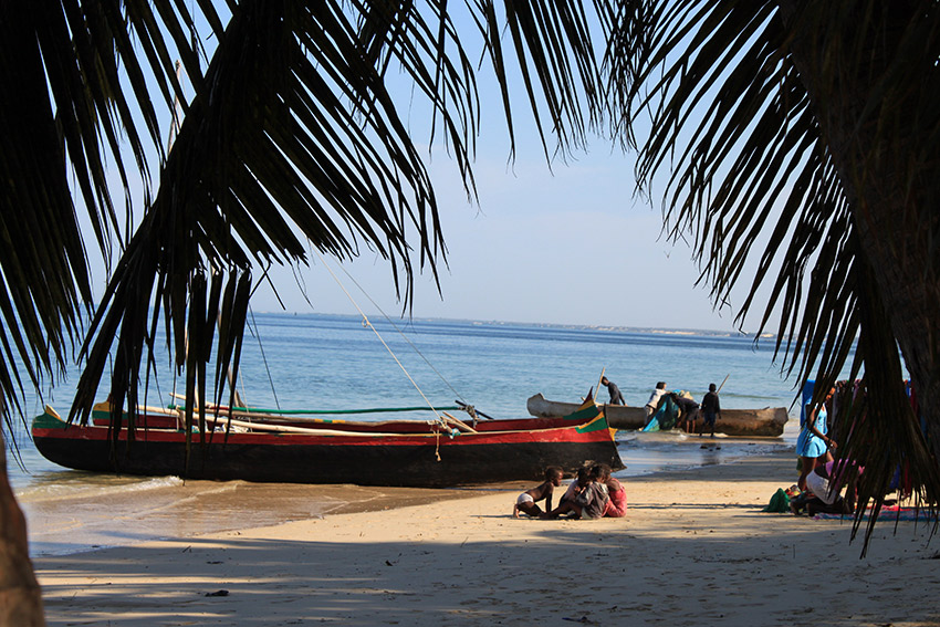 The beach at Ifaty. Madagascar is blessed with some of the finest beaches along the Indian Ocean, and its warmest waters, too.