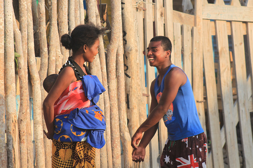 The Malagasy know how to greet you with a smile.