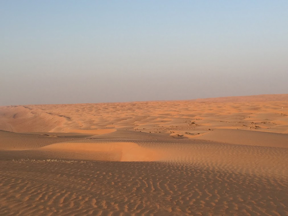 The Wahiba Sands desert.