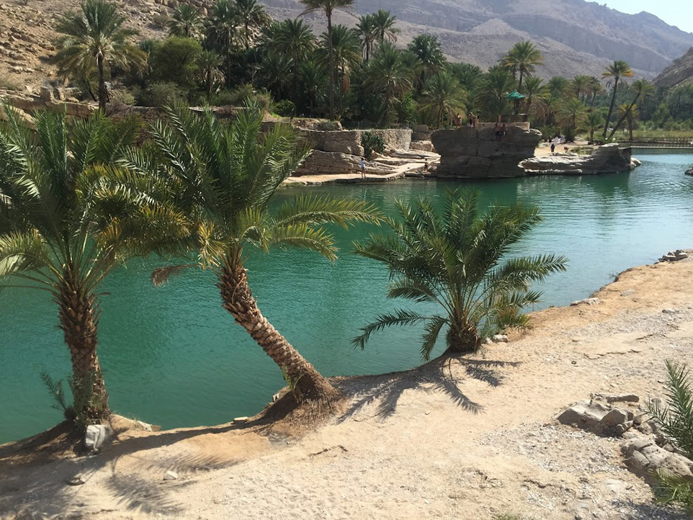Wadis are fed by natural springs, which results in lush, turquoise waters.