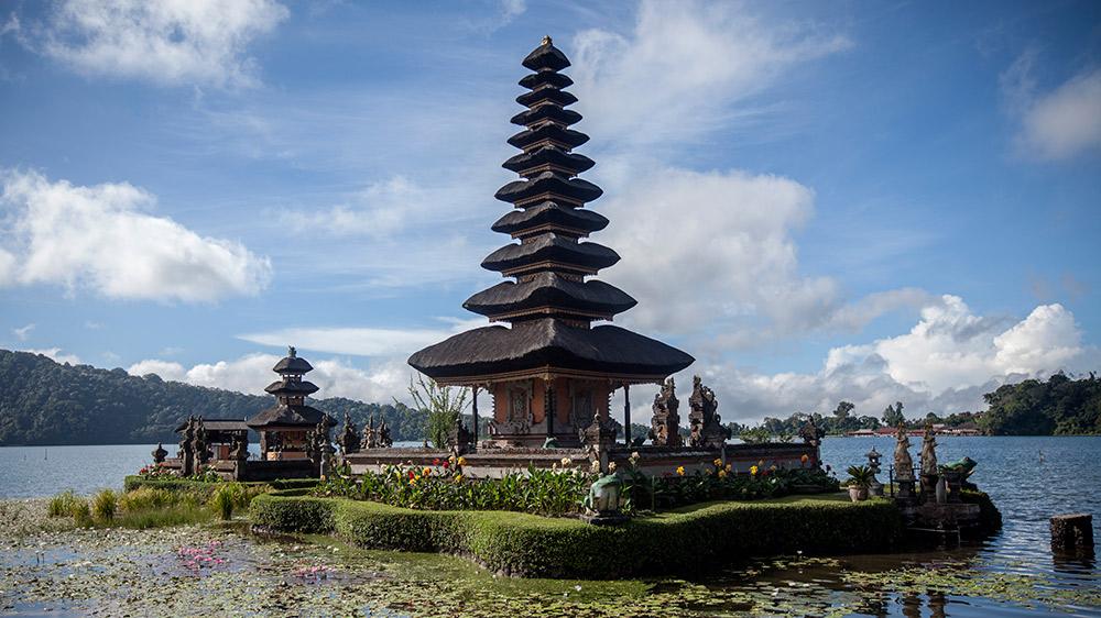 Bali's iconic Pura Dalem Bratan Temple.