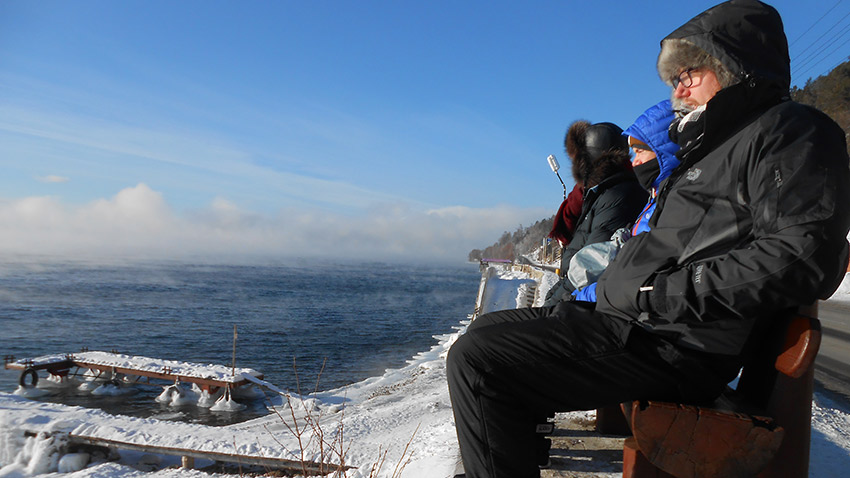 Taking it all in on the shores of Lake Baikal. Photo courtesy Svetlana S.