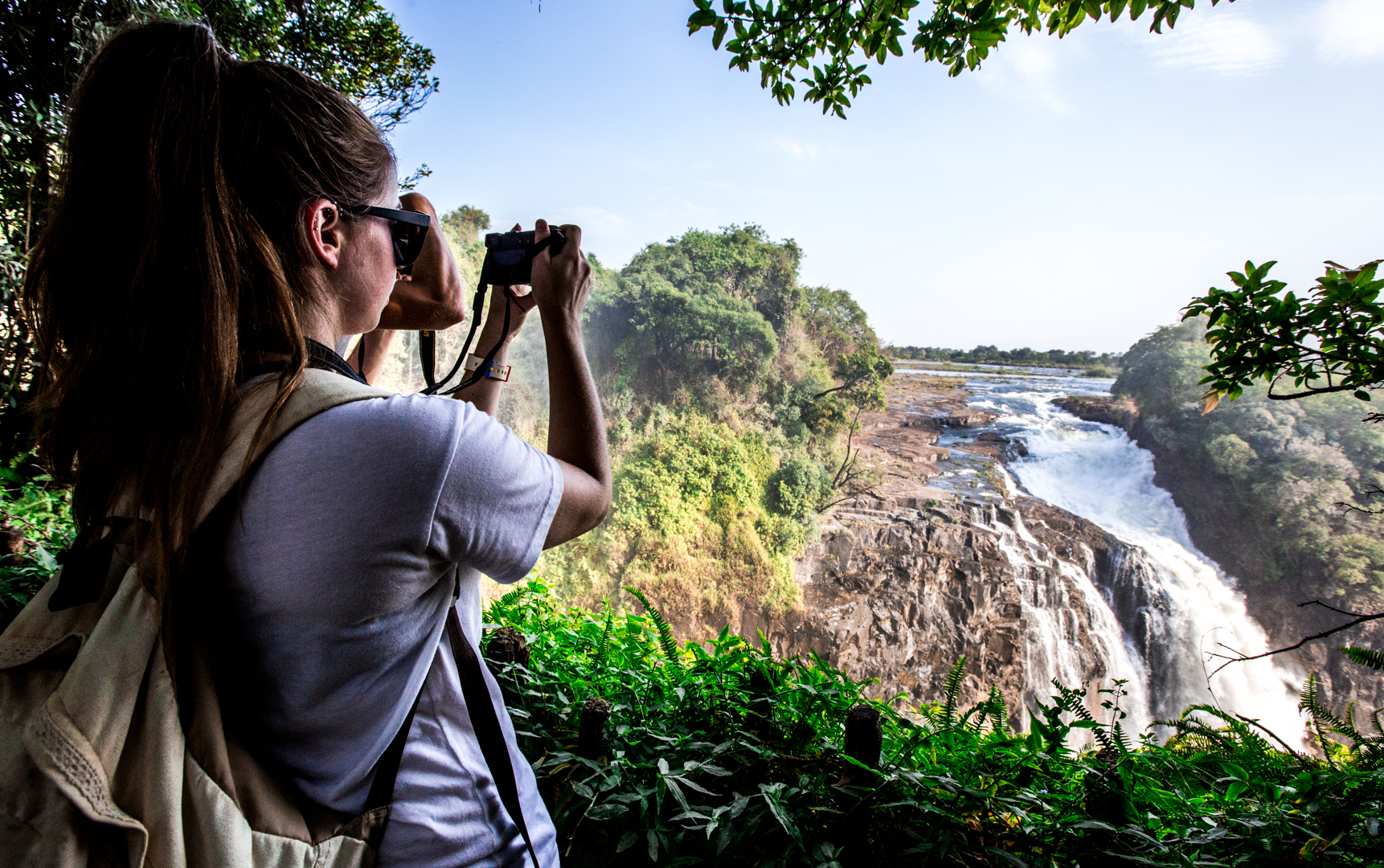 Trying to capture the enormous landscape of Victoria Falls.
