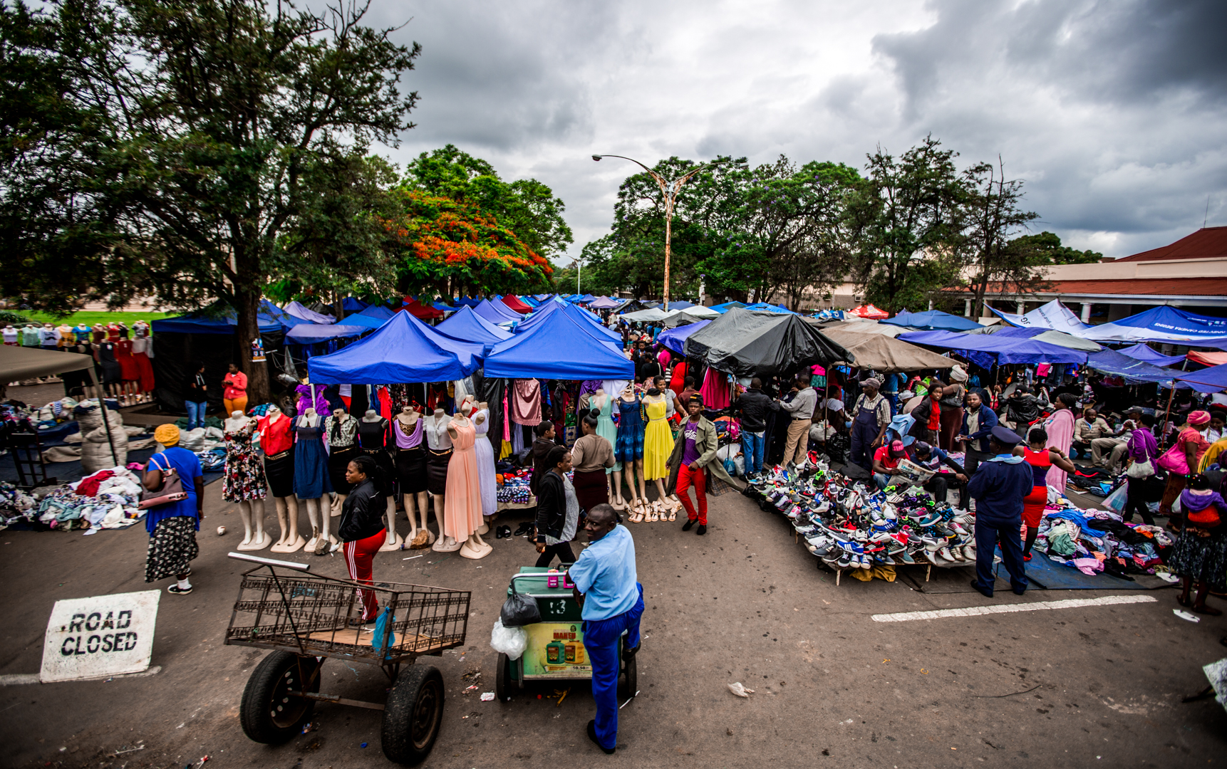 Market day in Harare, Zimbabwe. Street markets and local shopping are a must-do on all trips.