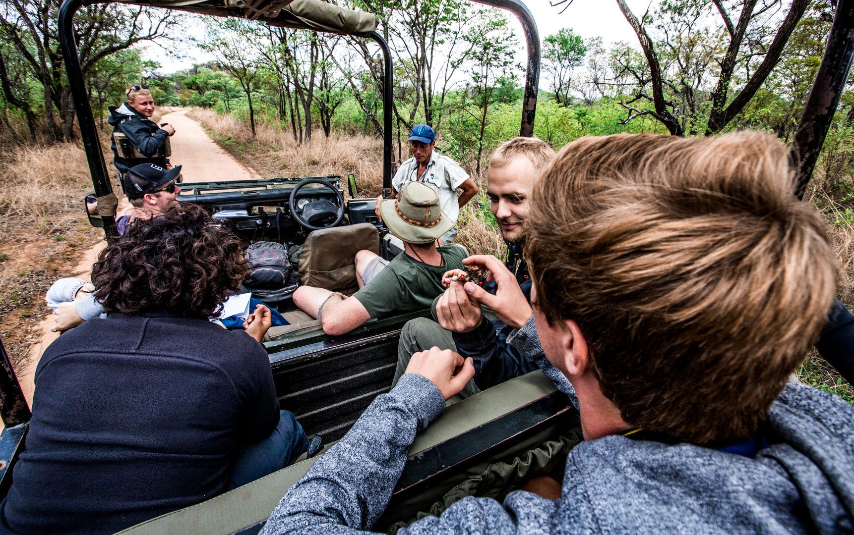 One of the highlights of my trip was going on a safari. Here, we're spotting for rhinos.