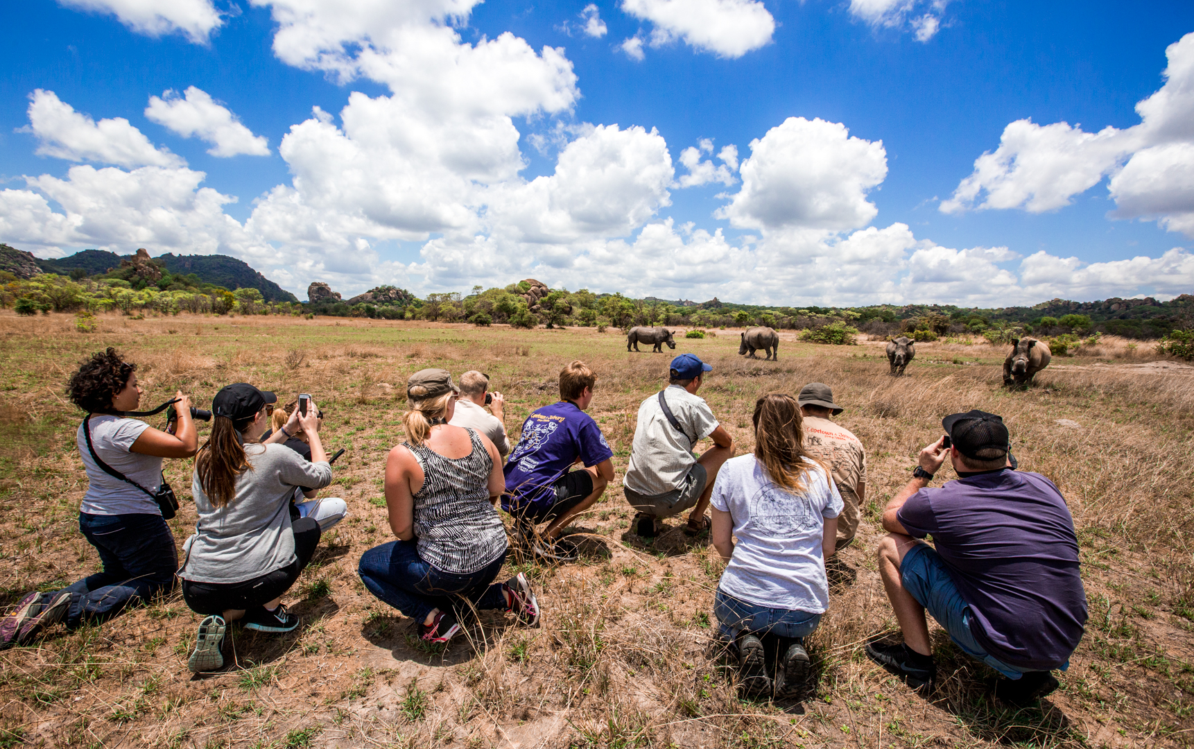 Zimbabwe's Matobo National Park offers some unique options to get up close and personal with the rhinos.