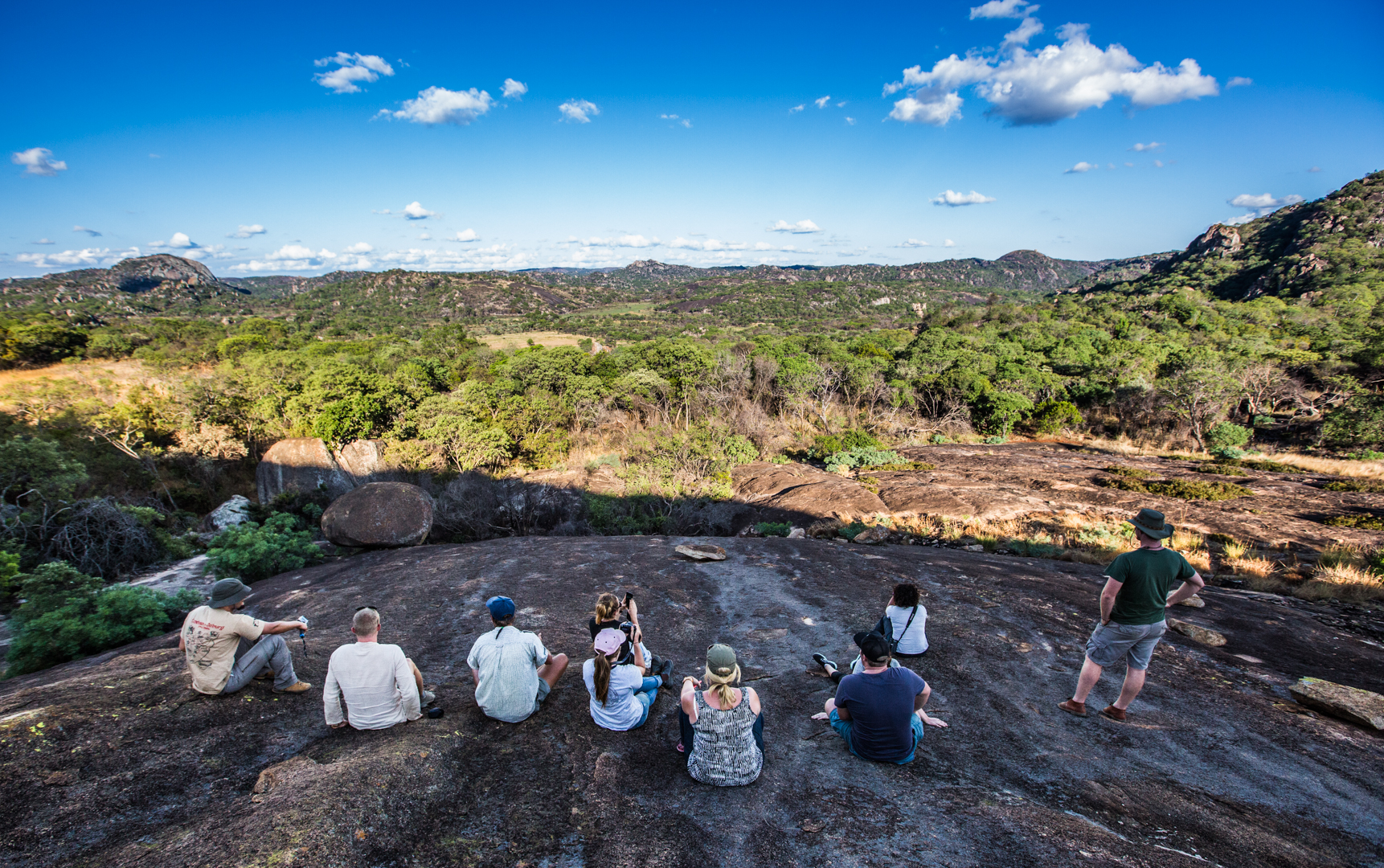 The views from the caves in Matobo National Park.