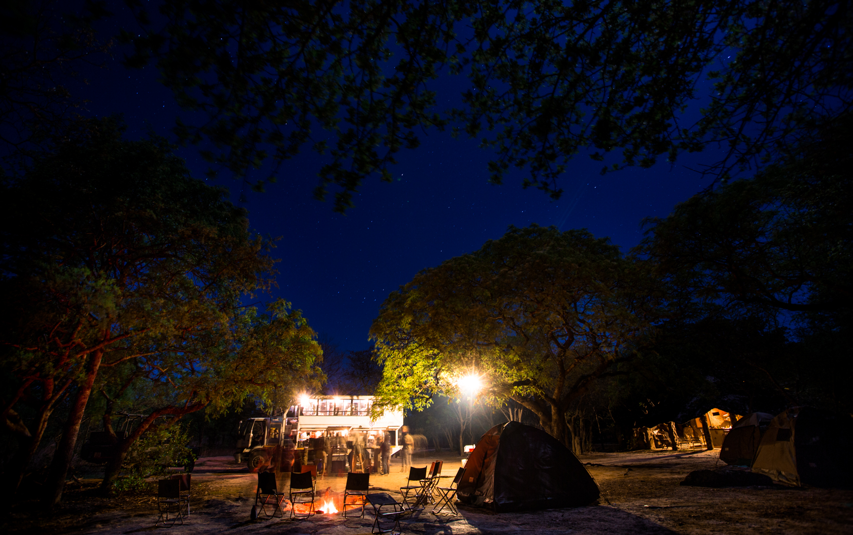 Camping under the stars in Matobo.