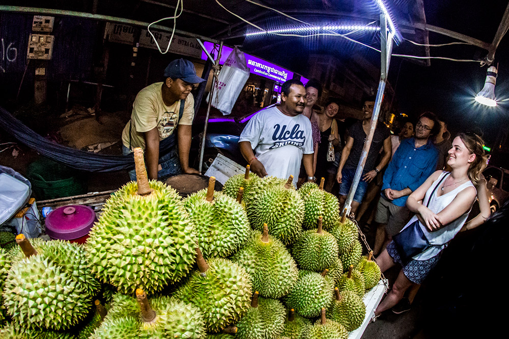 "In Southeast Aisa, durian fruit is known as the ""King of Fruits,"" but it sure doesn't smell like royalty. Consider yourself warned."
