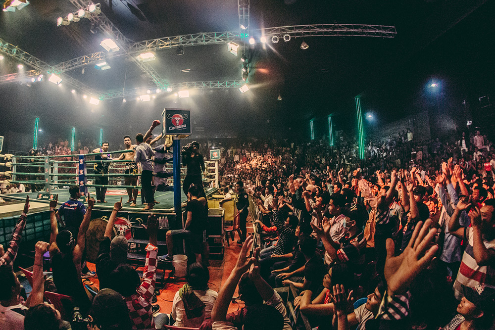 You can't visit Cambodia without going to one kick-boxing match...