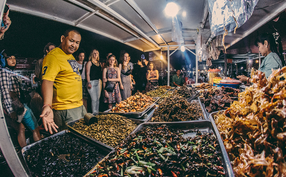 The street food. Inclusive, with your choice of insects!