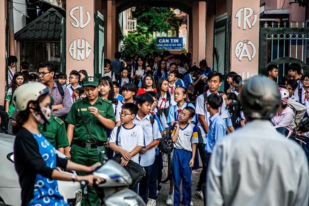 Downtown Saigon can get pretty busy.