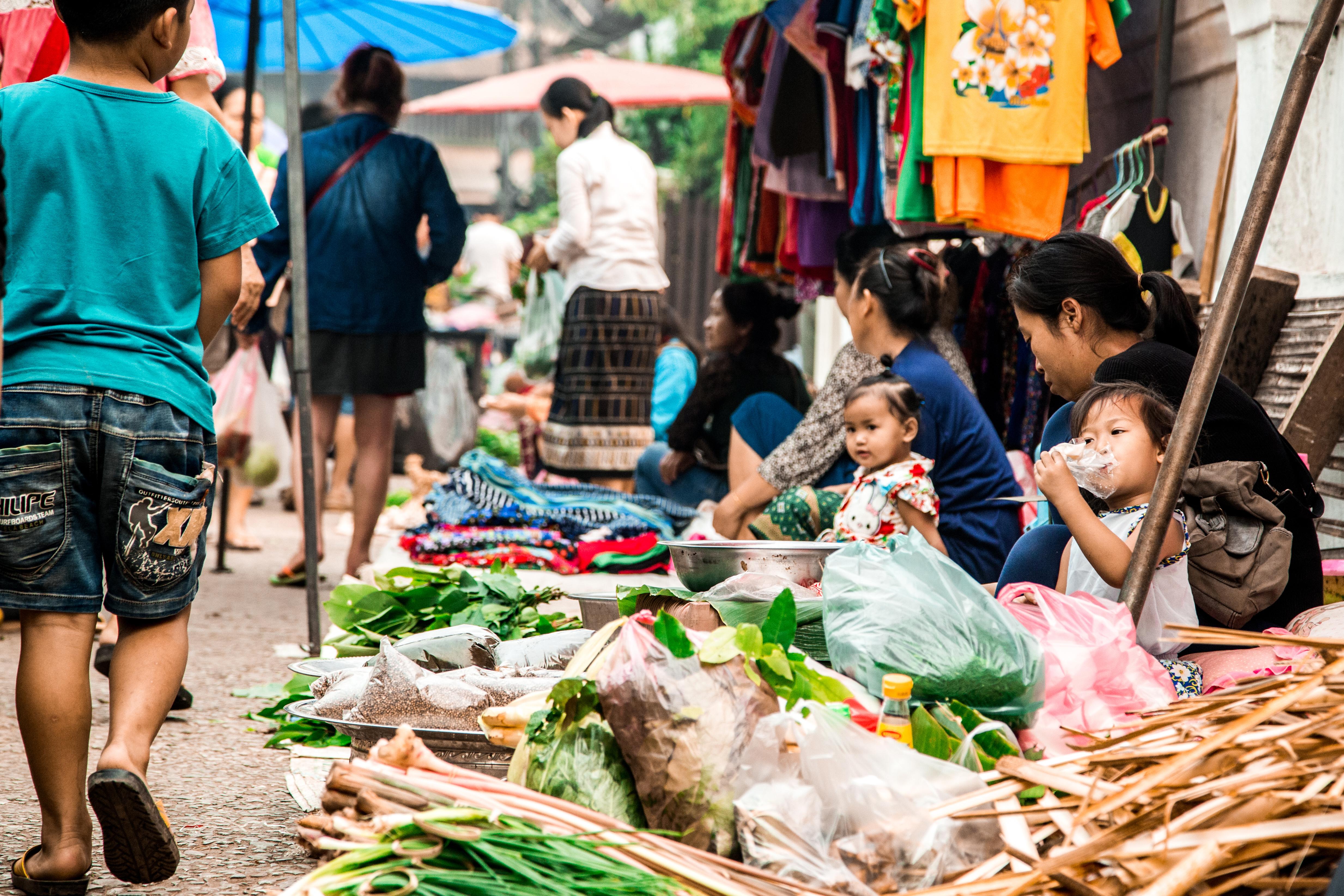 Street markets in Luang Prabang.