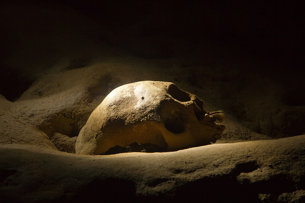Belize's ATM caves are filled with ancient human remains. Photo courtesy of James Snyder.