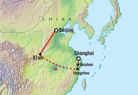 Great Wall Of China On China Map.Sta Travel See The Great Wall Of China